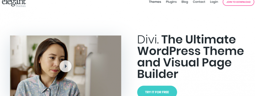 Plantilla de wordpress Divi